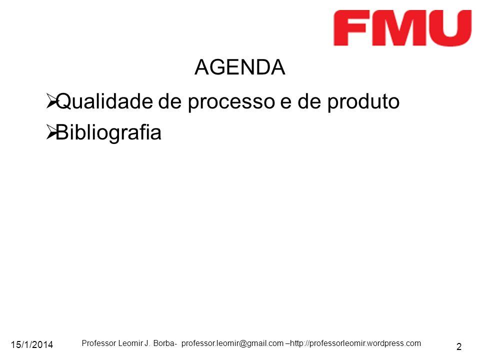 Qualidade de processo e de produto Bibliografia