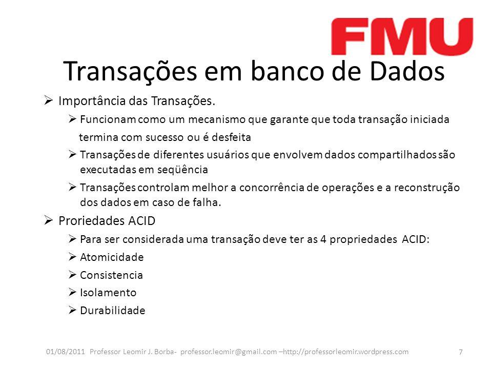 Transações em banco de Dados