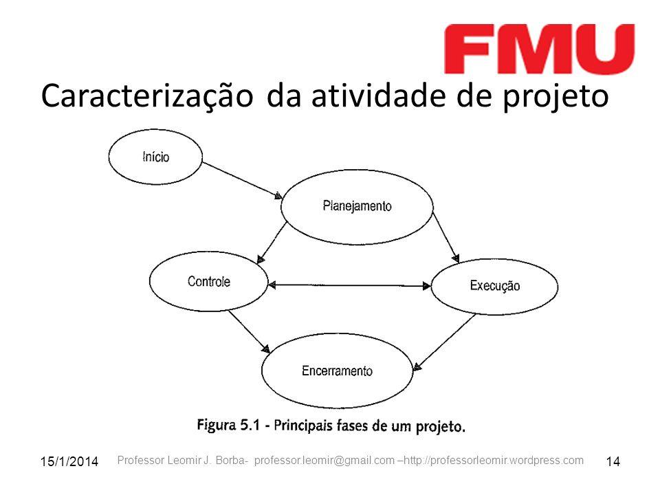 Caracterização da atividade de projeto