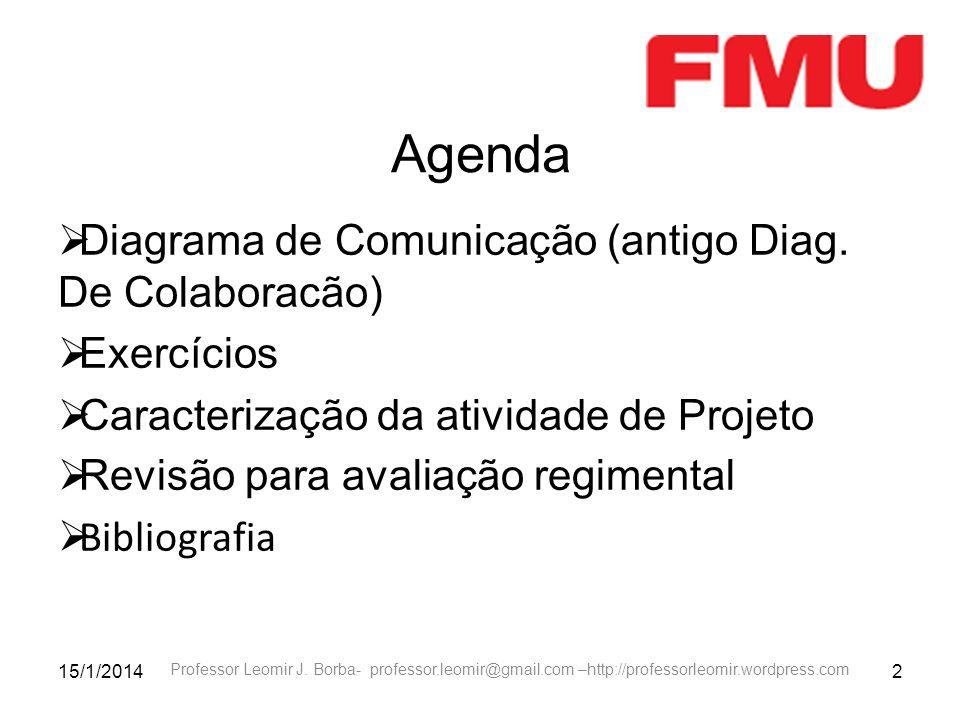 Agenda Diagrama de Comunicação (antigo Diag. De Colaboracão)