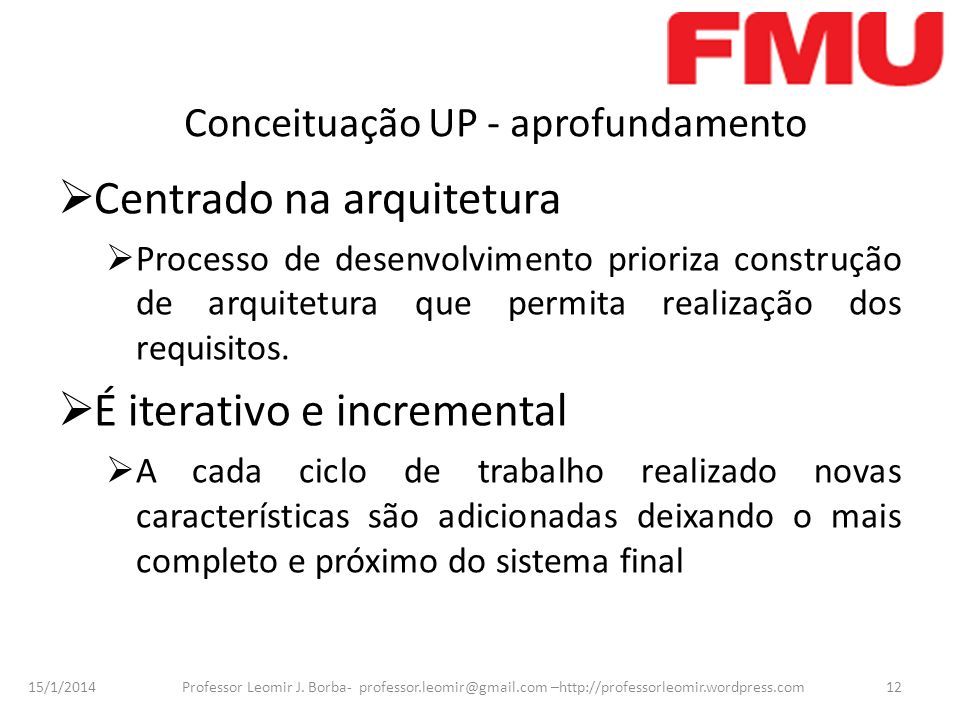 Conceituação UP - aprofundamento