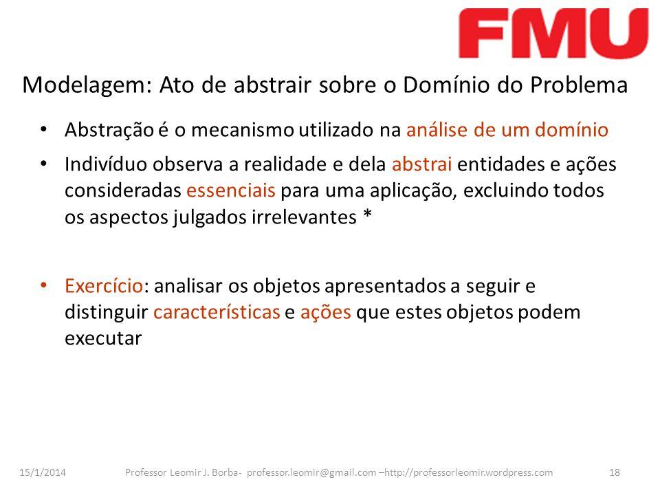 Modelagem: Ato de abstrair sobre o Domínio do Problema
