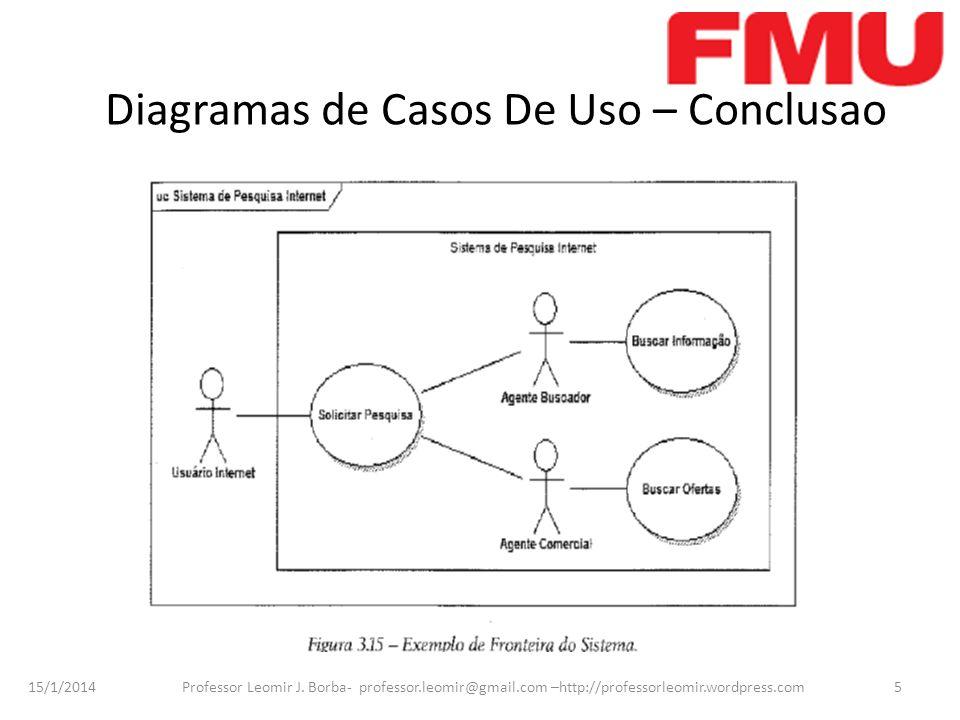 Diagramas de Casos De Uso – Conclusao