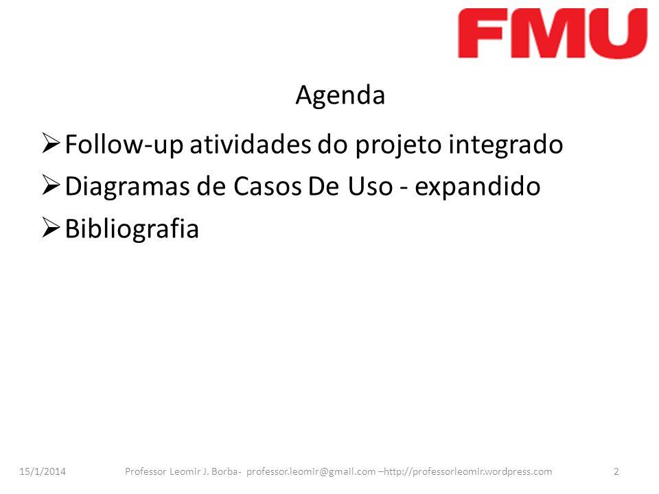 Follow-up atividades do projeto integrado