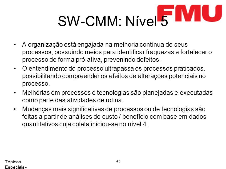 SW-CMM: Nível 5