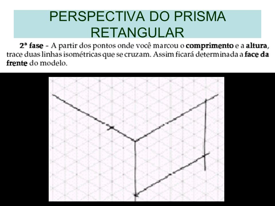 PERSPECTIVA DO PRISMA RETANGULAR