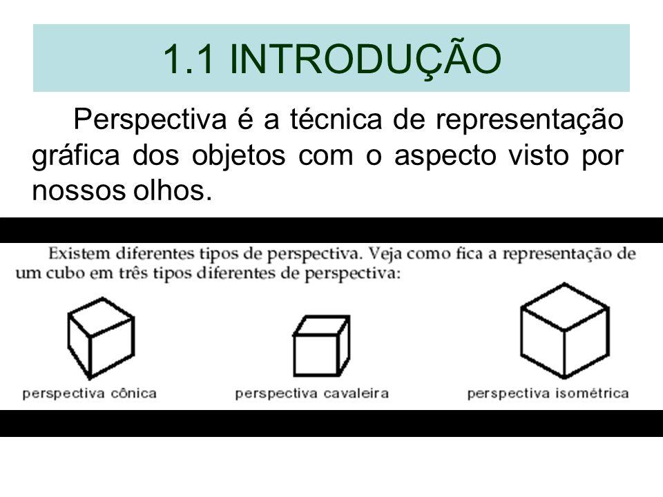 1.1 INTRODUÇÃOPerspectiva é a técnica de representação gráfica dos objetos com o aspecto visto por nossos olhos.
