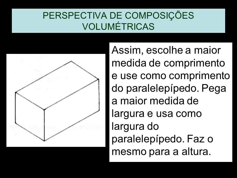 PERSPECTIVA DE COMPOSIÇÕES VOLUMÉTRICAS