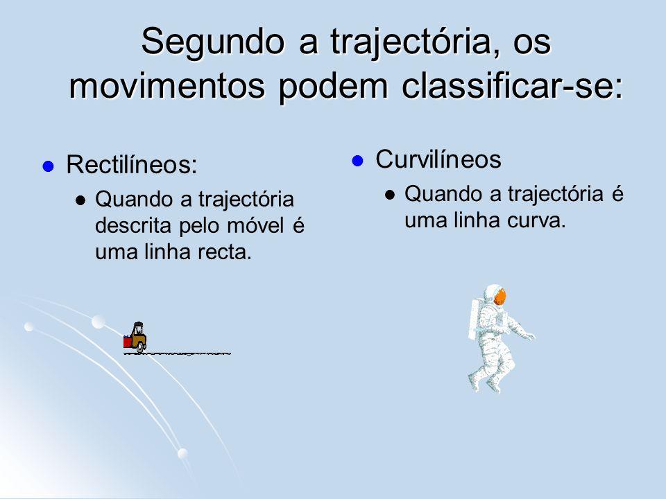 Segundo a trajectória, os movimentos podem classificar-se: