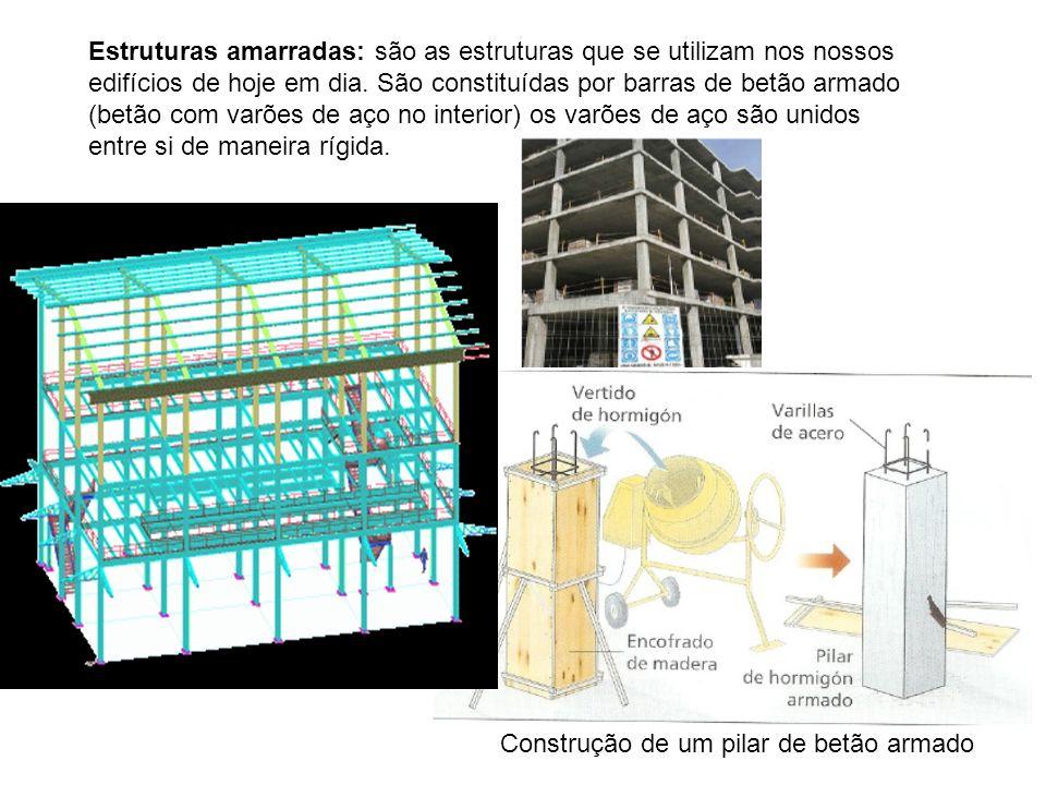 Estruturas amarradas: são as estruturas que se utilizam nos nossos