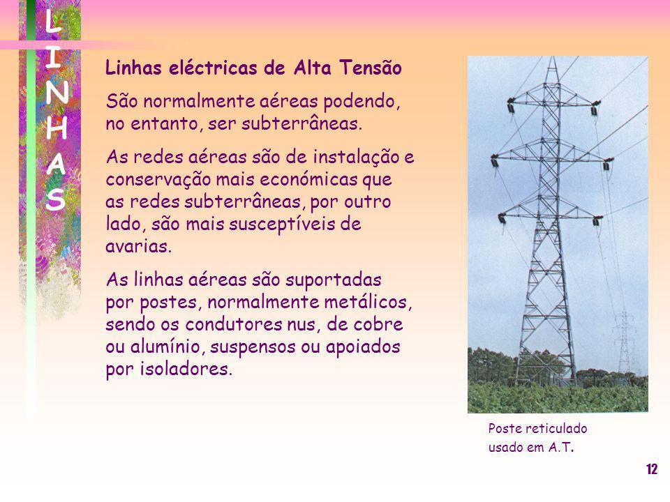 LINHAS Linhas eléctricas de Alta Tensão