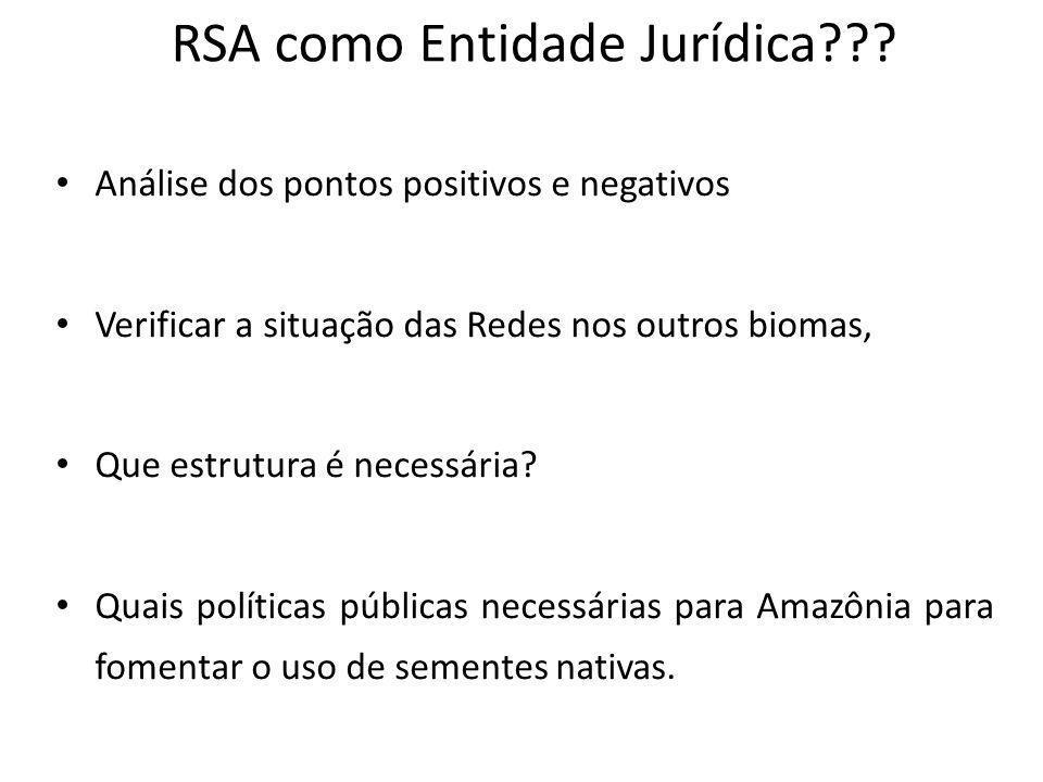 RSA como Entidade Jurídica