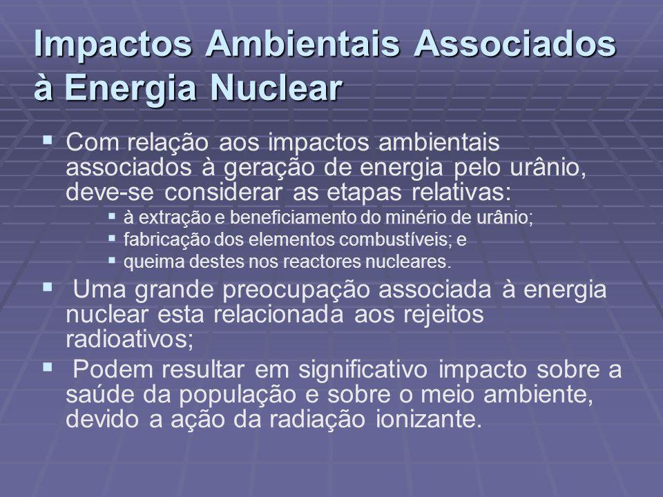 Impactos Ambientais Associados à Energia Nuclear