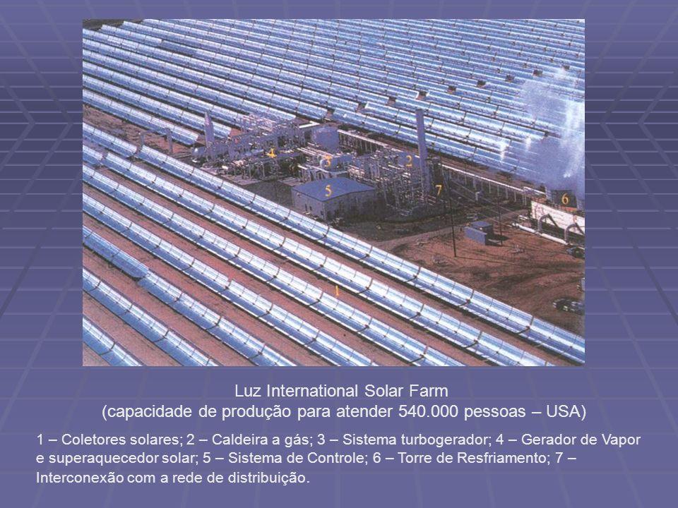 Luz International Solar Farm (capacidade de produção para atender 540