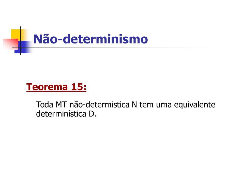 Não-determinismo Teorema 15: