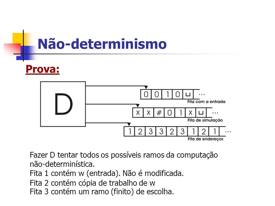 Não-determinismo Prova: