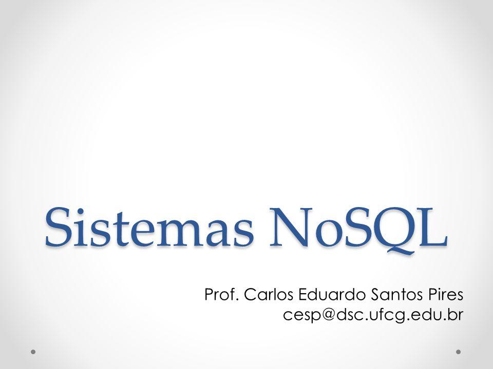 Prof. Carlos Eduardo Santos Pires cesp@dsc.ufcg.edu.br