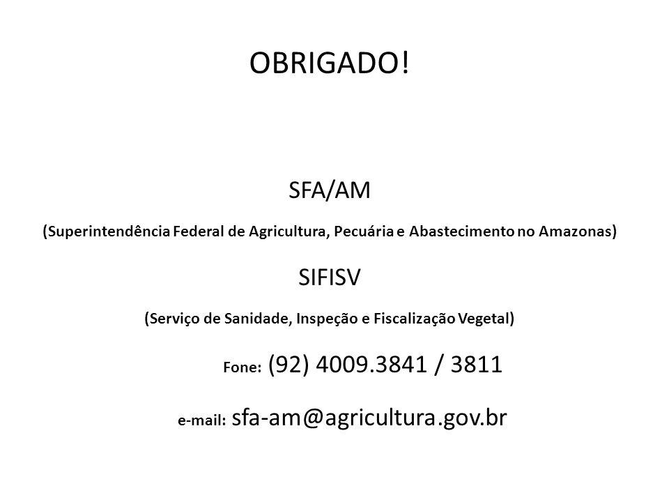 (Serviço de Sanidade, Inspeção e Fiscalização Vegetal)