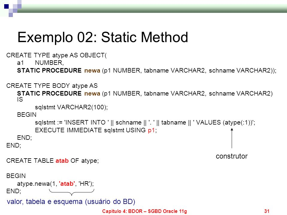 Exemplo 02: Static Method