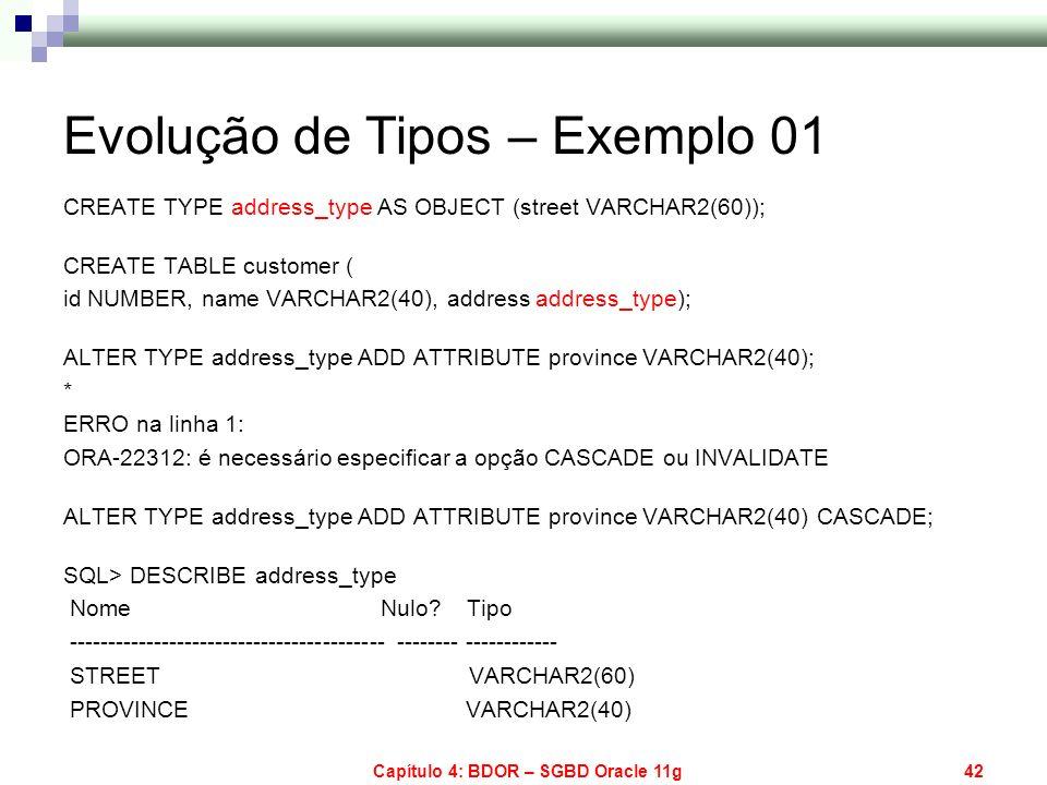 Evolução de Tipos – Exemplo 01