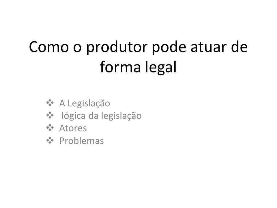 Como o produtor pode atuar de forma legal