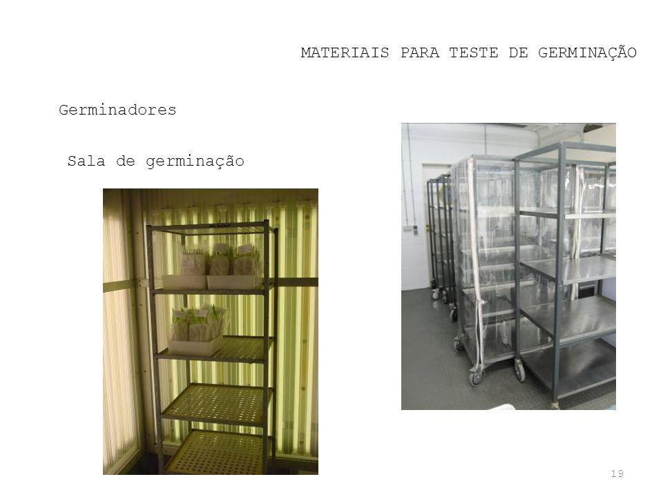 MATERIAIS PARA TESTE DE GERMINAÇÃO