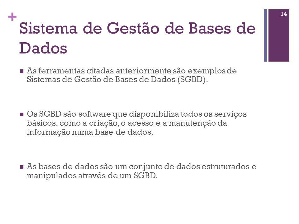 Sistema de Gestão de Bases de Dados