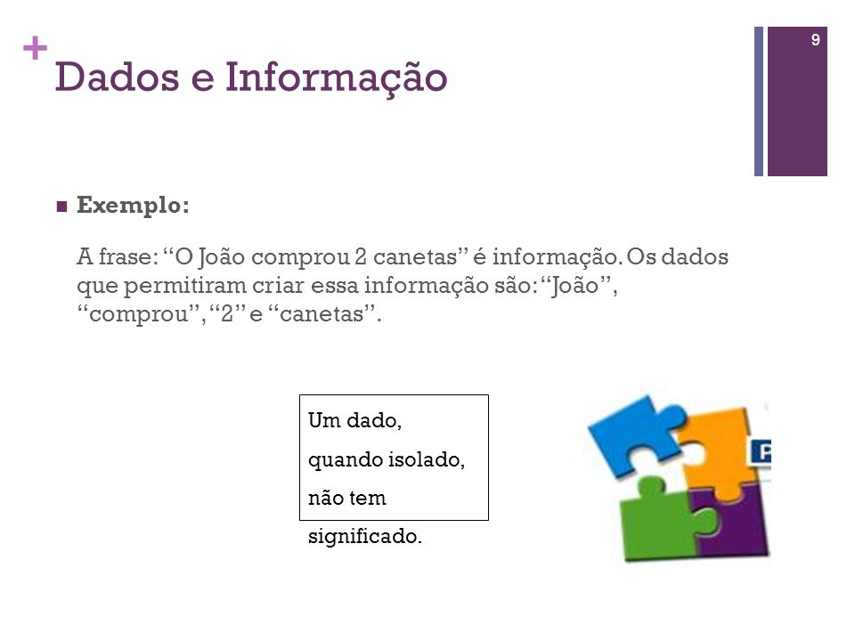 Dados e Informação Exemplo: