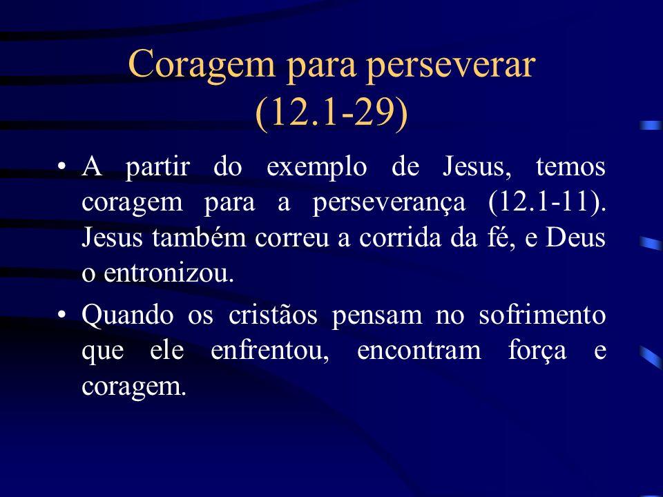 Coragem para perseverar (12.1-29)