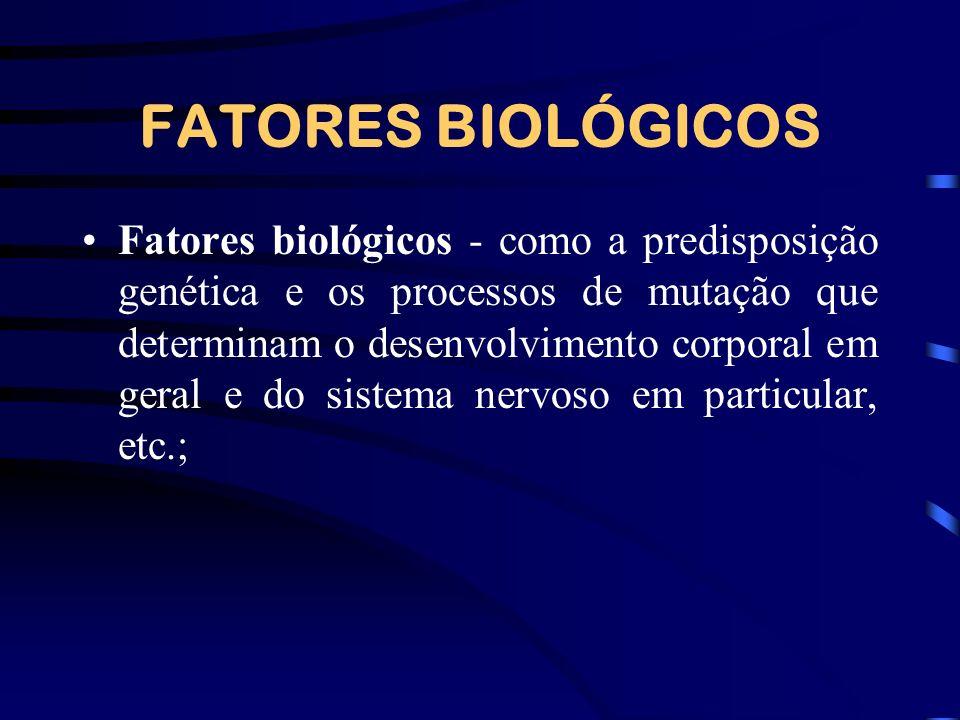FATORES BIOLÓGICOS
