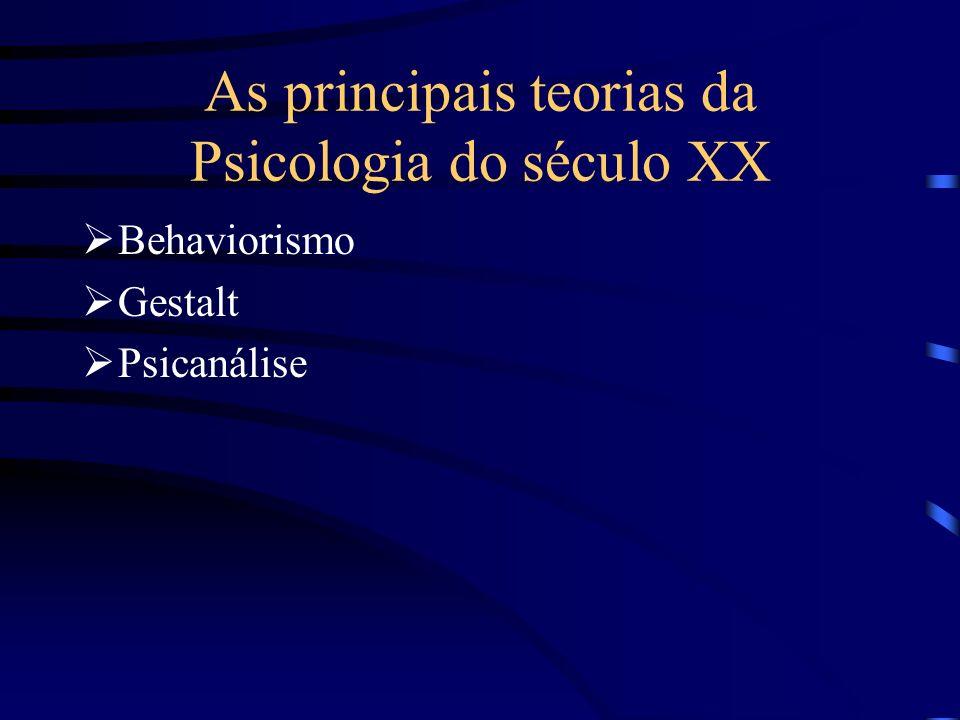 As principais teorias da Psicologia do século XX