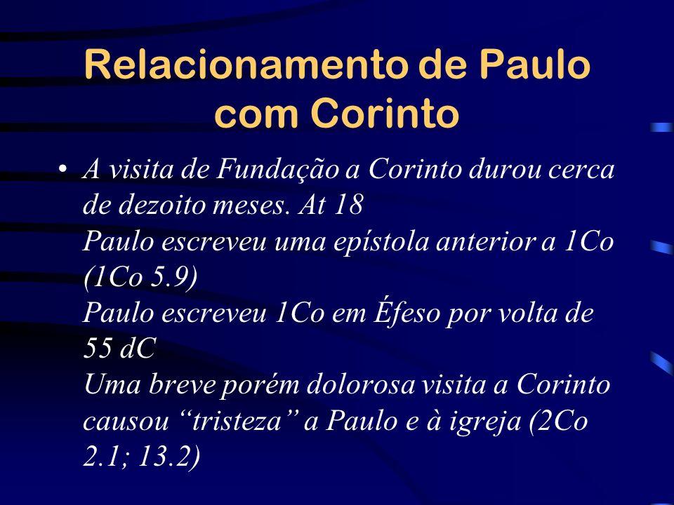 Relacionamento de Paulo com Corinto