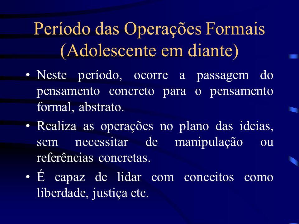 Período das Operações Formais (Adolescente em diante)