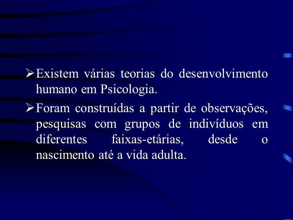 Existem várias teorias do desenvolvimento humano em Psicologia.