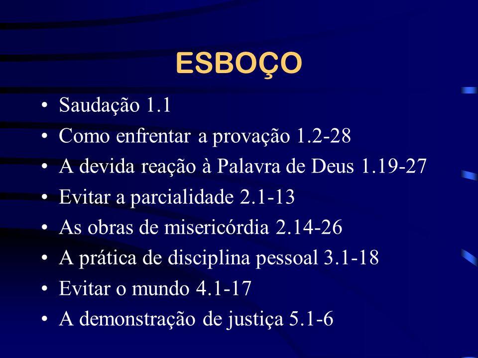 ESBOÇO Saudação 1.1 Como enfrentar a provação 1.2-28