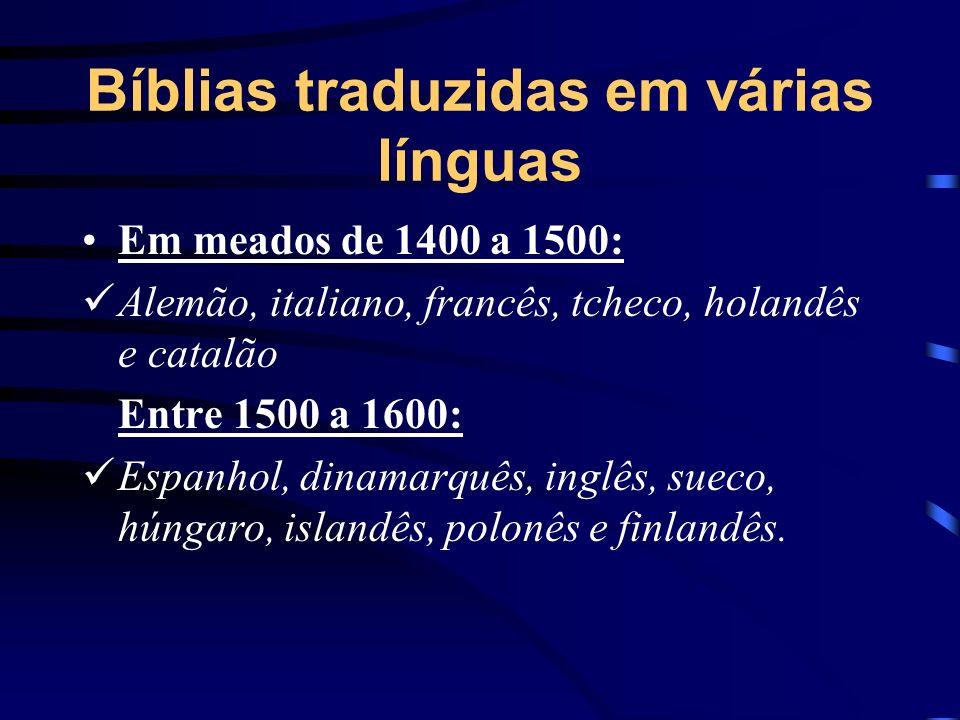Bíblias traduzidas em várias línguas