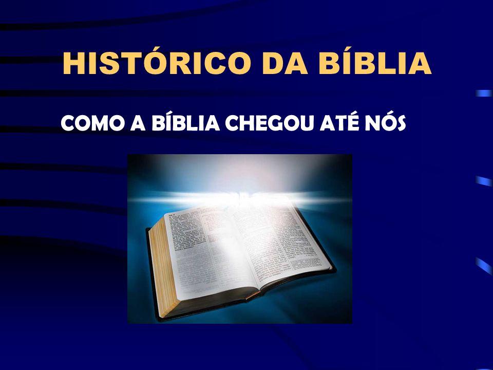 HISTÓRICO DA BÍBLIA COMO A BÍBLIA CHEGOU ATÉ NÓS
