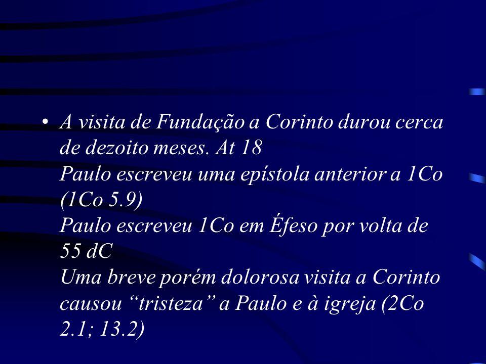 A visita de Fundação a Corinto durou cerca de dezoito meses