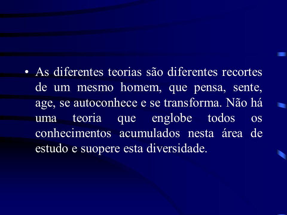 As diferentes teorias são diferentes recortes de um mesmo homem, que pensa, sente, age, se autoconhece e se transforma.