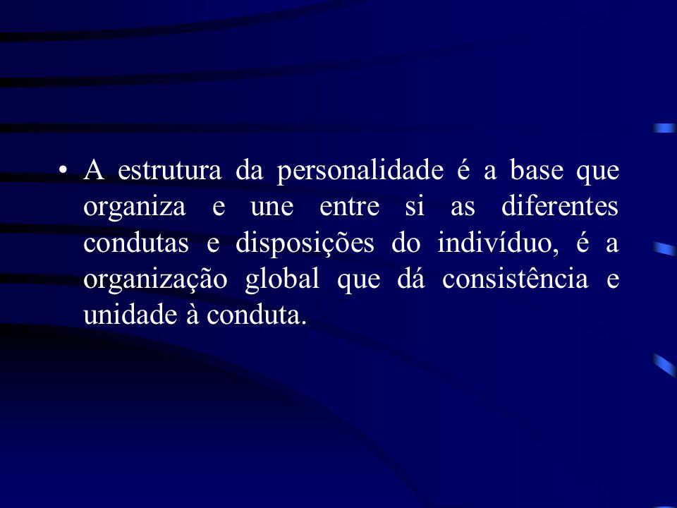 A estrutura da personalidade é a base que organiza e une entre si as diferentes condutas e disposições do indivíduo, é a organização global que dá consistência e unidade à conduta.