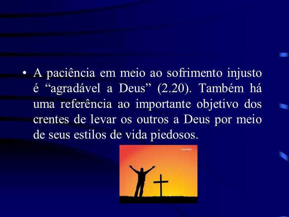 A paciência em meio ao sofrimento injusto é agradável a Deus (2. 20)