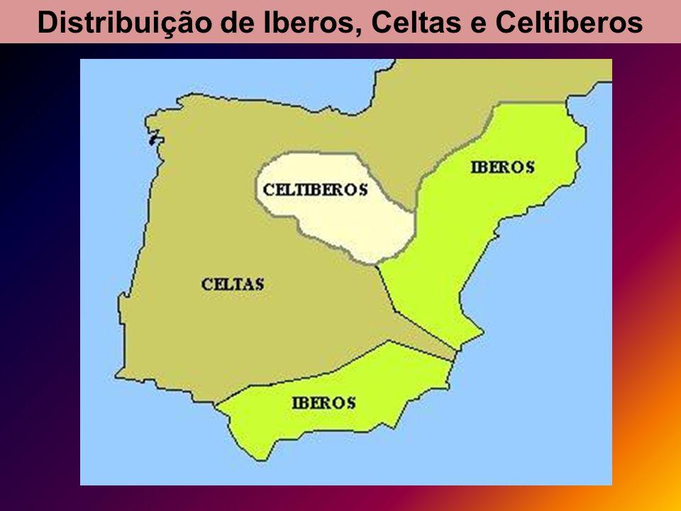 Distribuição de Iberos, Celtas e Celtiberos