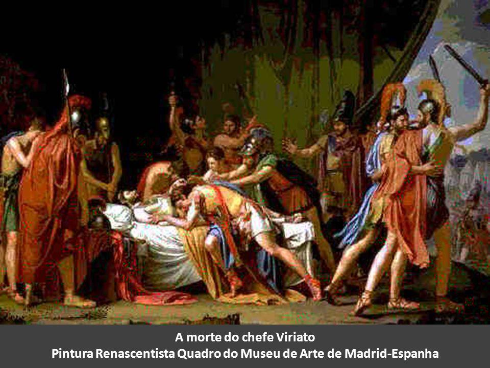 A morte do chefe Viriato Pintura Renascentista Quadro do Museu de Arte de Madrid-Espanha