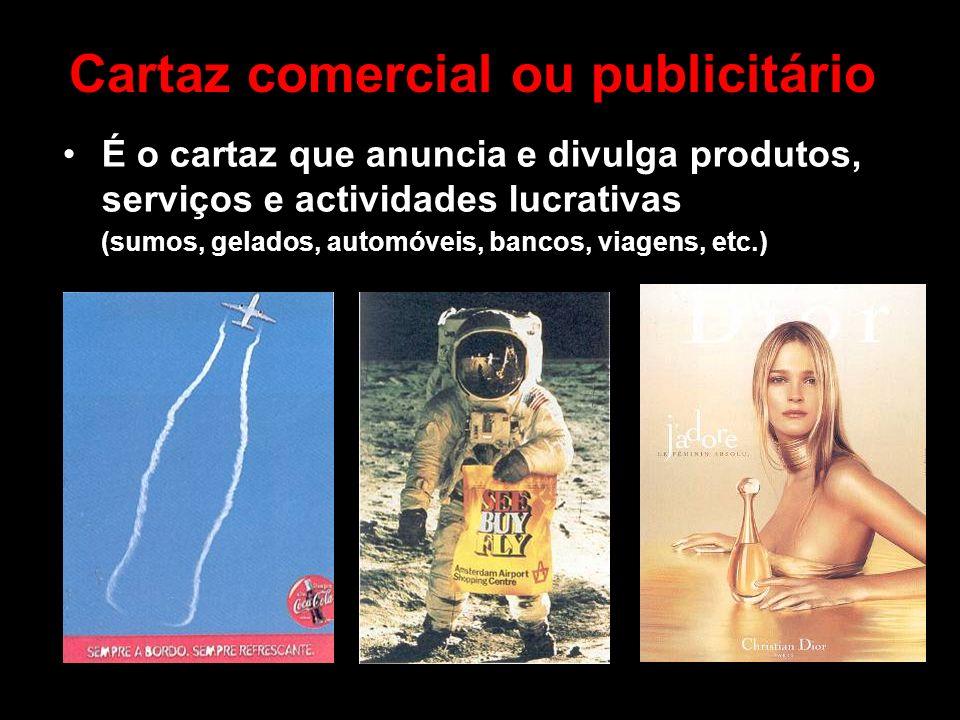 Cartaz comercial ou publicitário