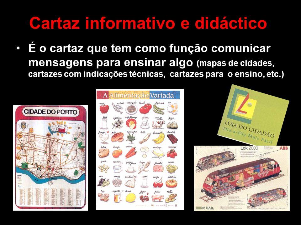 Cartaz informativo e didáctico