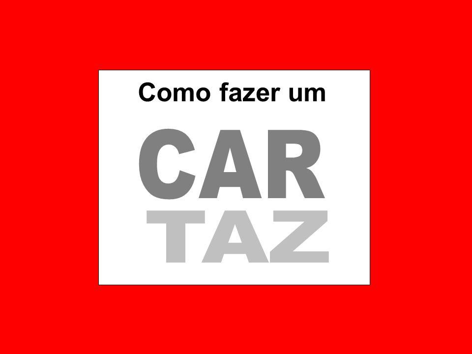 Como fazer um CAR TAZ