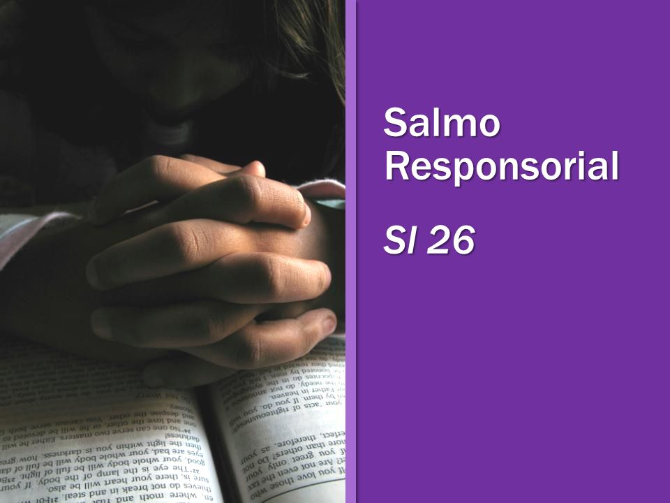 Salmo Responsorial Sl 26