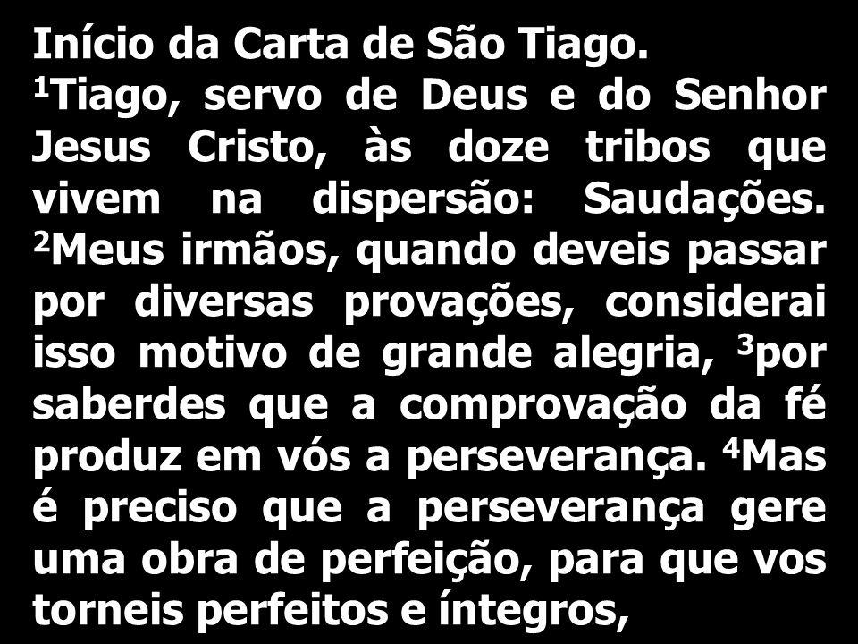 Início da Carta de São Tiago.