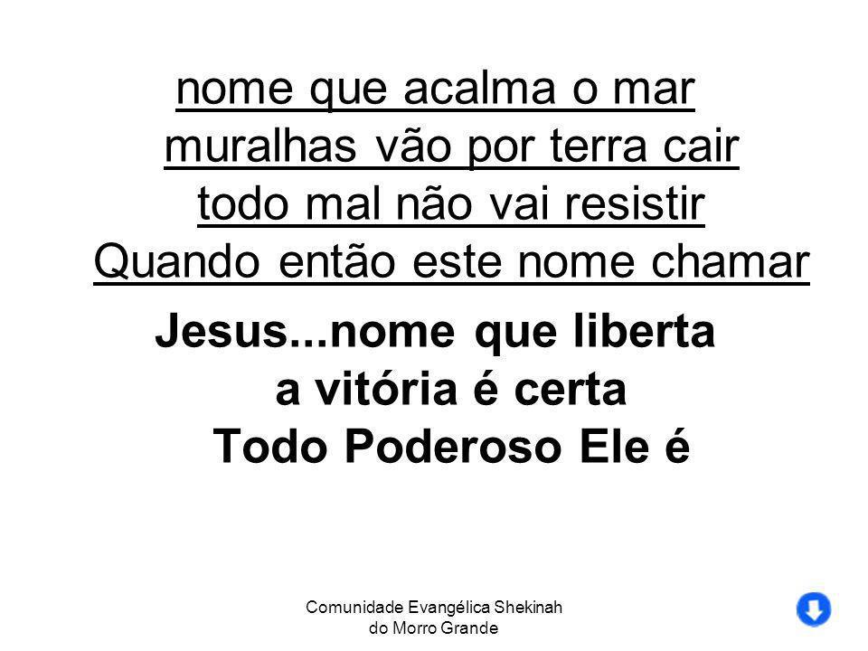 Jesus...nome que liberta a vitória é certa Todo Poderoso Ele é