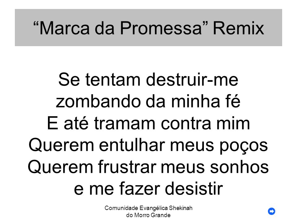 Marca da Promessa Remix